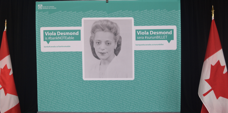 Viola Desmond selected for bank notes