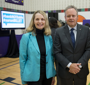 Merna Forster and Stephen Poloz