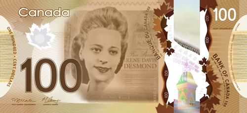 Proposed Viola Desmond bank note